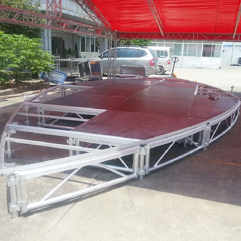 truss imported acrylic red Round Stage