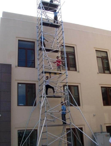 Construction Ladder Double scaffolding with climbing ladder