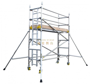 Adjustable Mobile Climb Ladder Single Scaffolding 6.6m