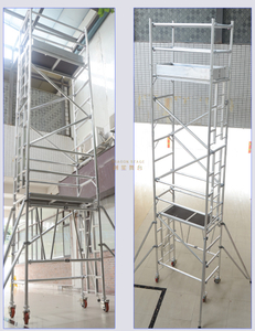 Tower Mobible Single Scaffolding with Ladder Adjustable Leg