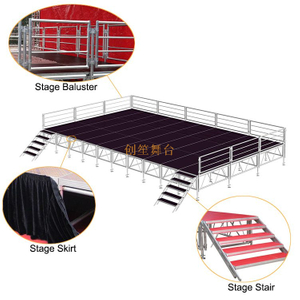 catwalk adjustable outdoor T Stage