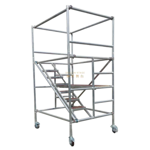 Board Mobile Tower Double scaffolding with 45degree ladder