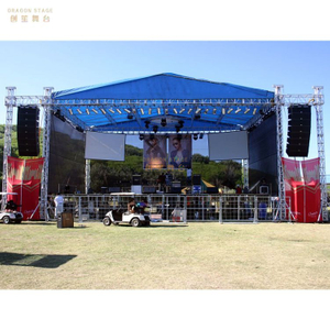 Silver Concert Event Truss with Roof