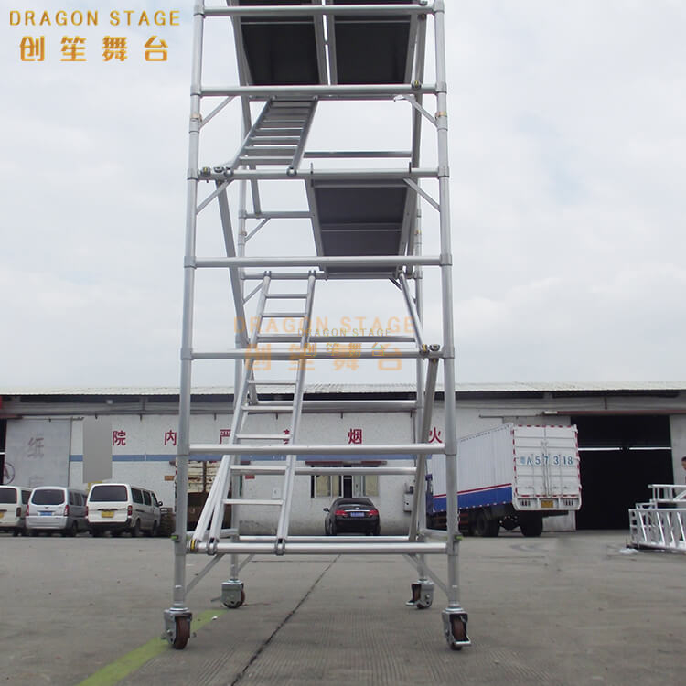 Portable Tower Double scaffolding with 45degree ladder