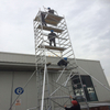 adjustable portable double scaffolding with climbing ladder