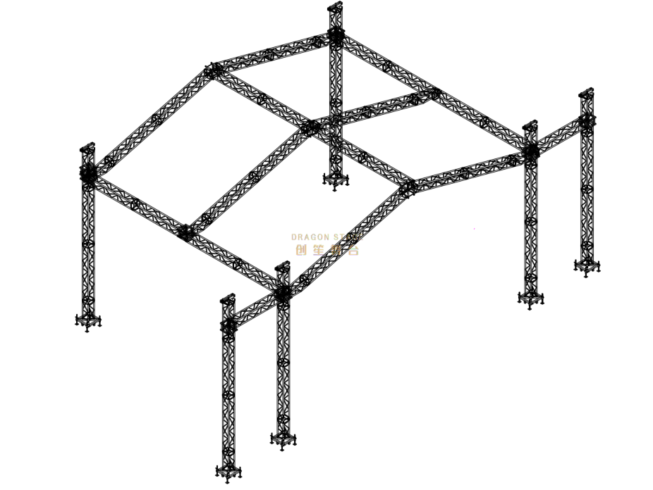 A Type Aluminum Lightweight Roof Truss for Event Stage