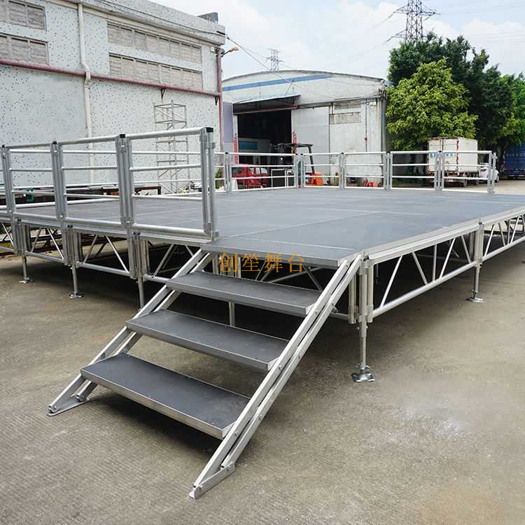 lightweight aluminum village Square Stage