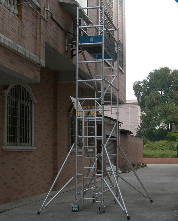 Aluminum Platform Mobile Single Scaffolding for Sale 7m