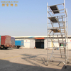 Board Mobile Double scaffolding with step ladder
