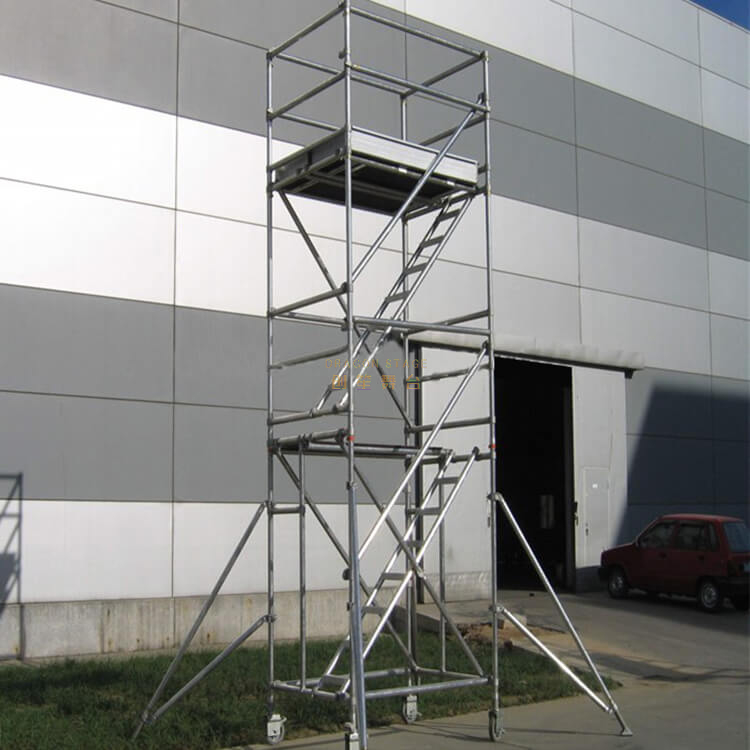Board Mobile Tower Double scaffolding with step ladder