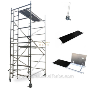 Construction Tower Double scaffolding with climbing ladder
