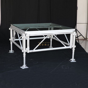 Small Portable Adjustable Aluminum Stage with Aluminum Deck 3.66x2.44m