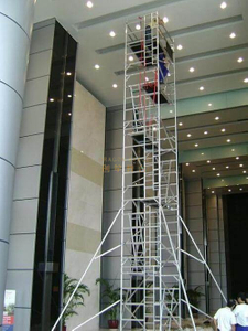 Portable Platform Double scaffolding with climbing ladder